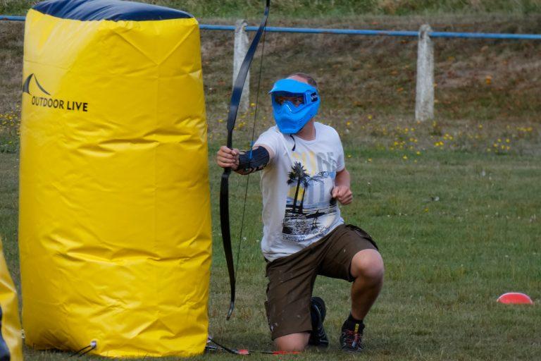 Spieler blau ArcheryTag